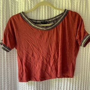 River Island Red Open Back Top